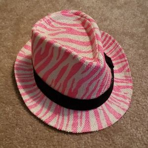 Girls pink, black & white hat One size Justice